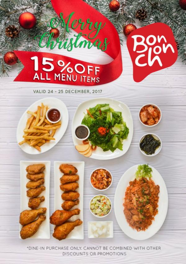 merry christmas 15off all menu items