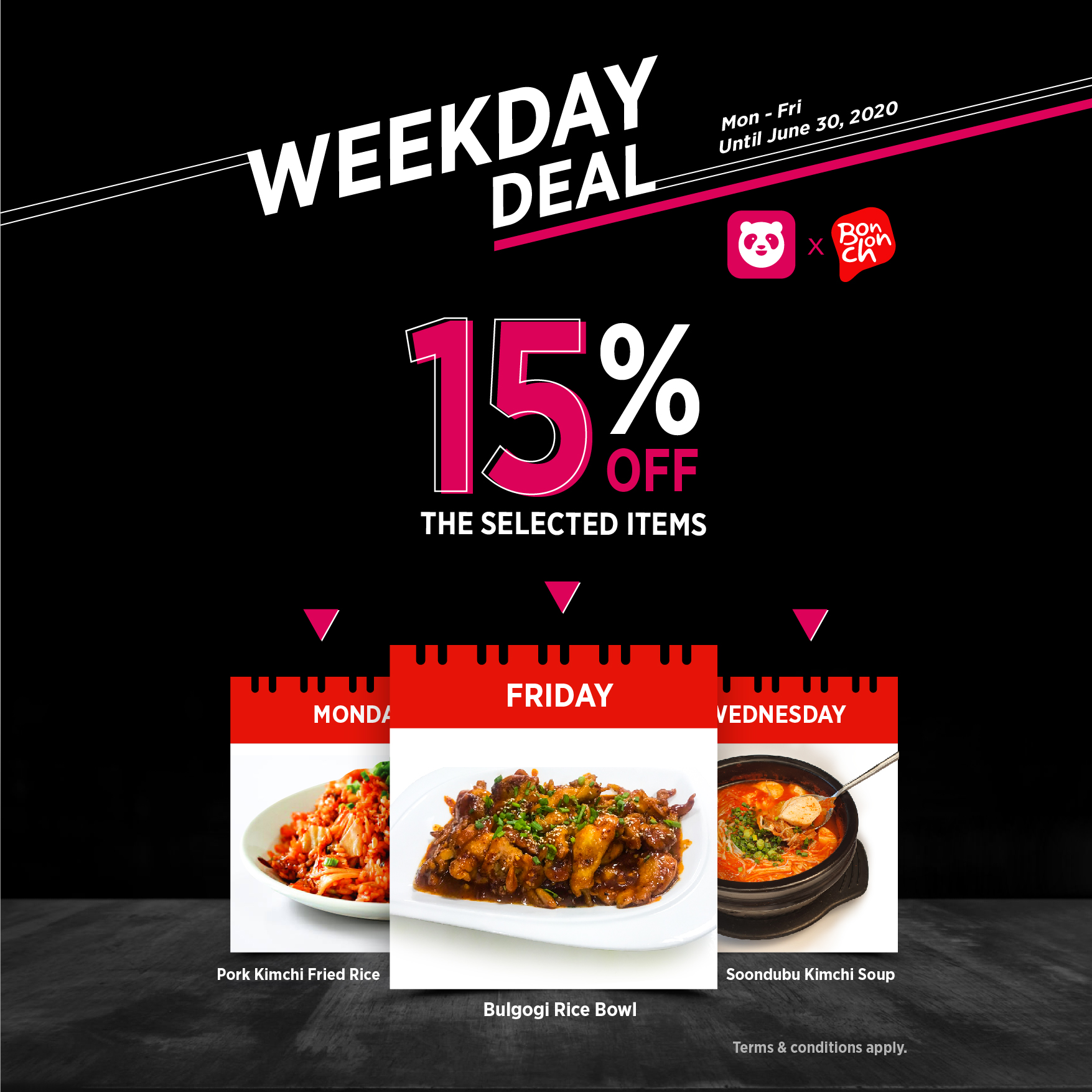 Weekday Deal 15% Off