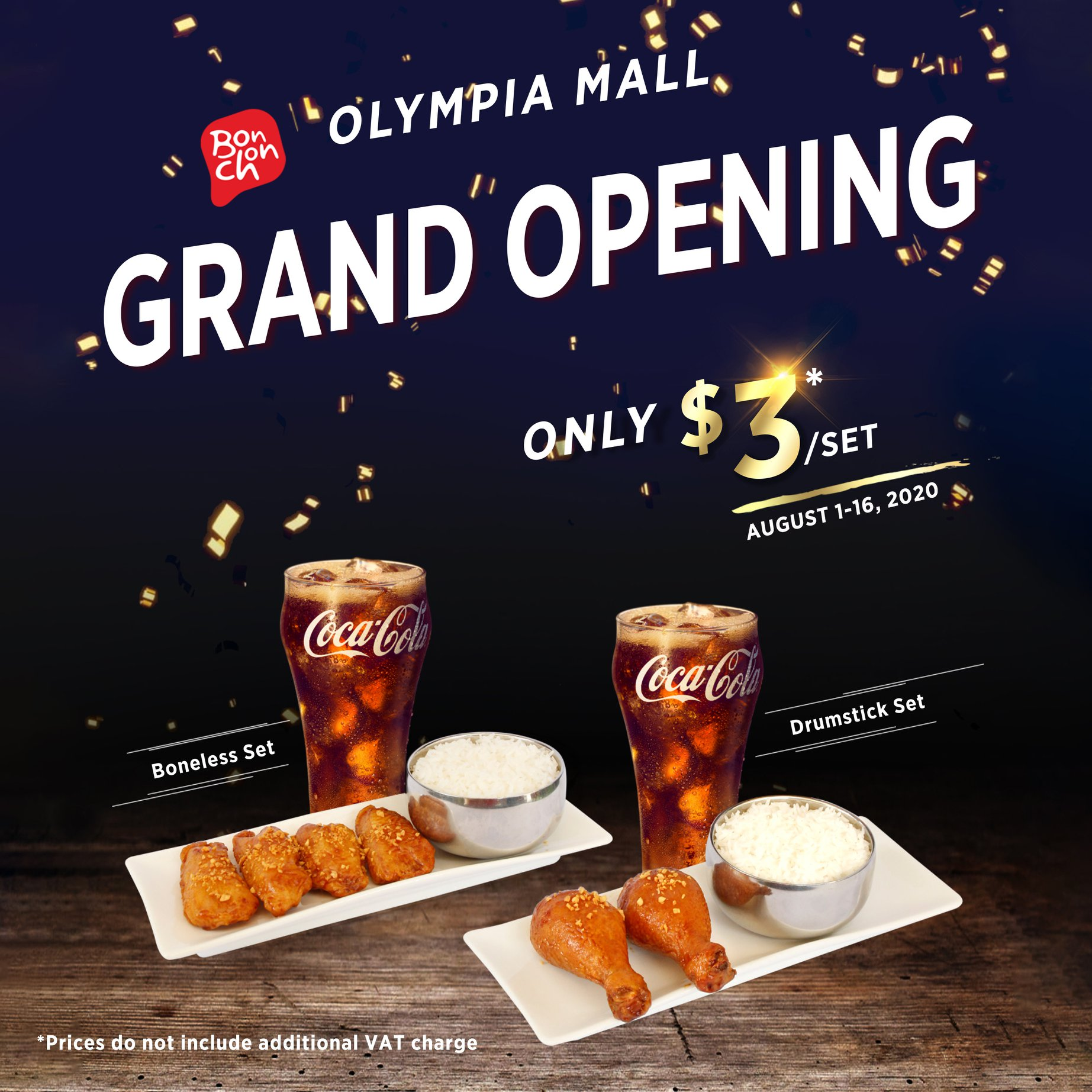 Olympia Mall Grand Opening Only $3/Set